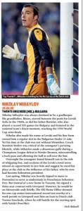 Mihaylov era a esperança da seleção búlgara (Foto: Reprodução/soccernostalgia.com)