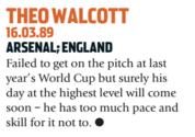 Walcott é uma das grandes decepções do futebol inglês. Será mesmo? (Foto: Reprodução/soccernostalgia.com)