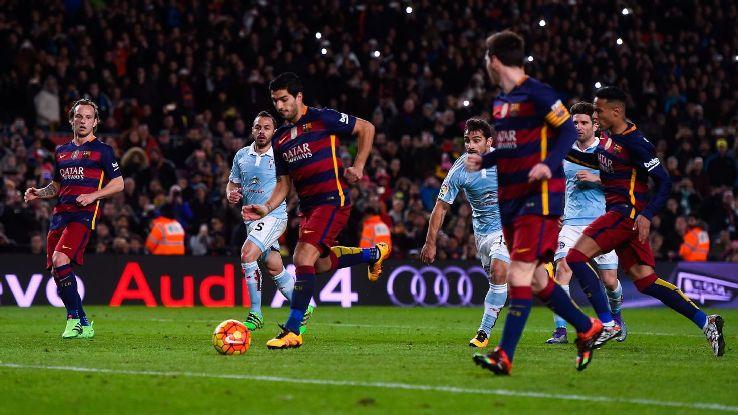 Já do lado catalão, êxito total para Messi e Suárez (Foto: Reprodução)
