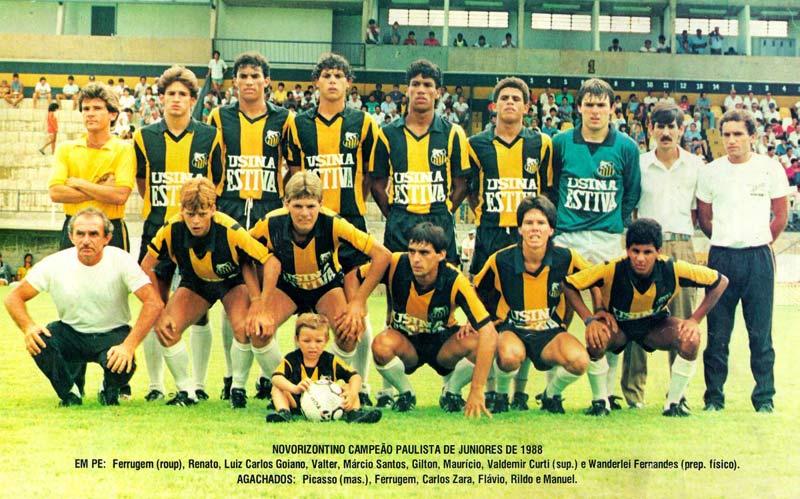 Novorizontino foi vice-campeão paulista em 1990 (Foto: Reproduçao)