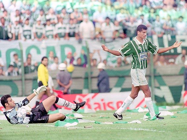 Rivaldo foi decisivo para o Palmeiras em 1994 (Foto: Reprodução)