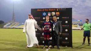 No torneio de Abu Dhabi, mais uma vez campeão (Foto: Divulgação/fcbarcelona.com)
