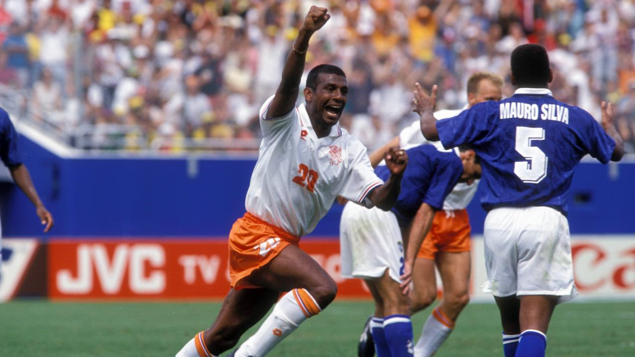 Gol marcado contra o Brasil na Copa do Mundo de 1994 (Foto: Reprodução)