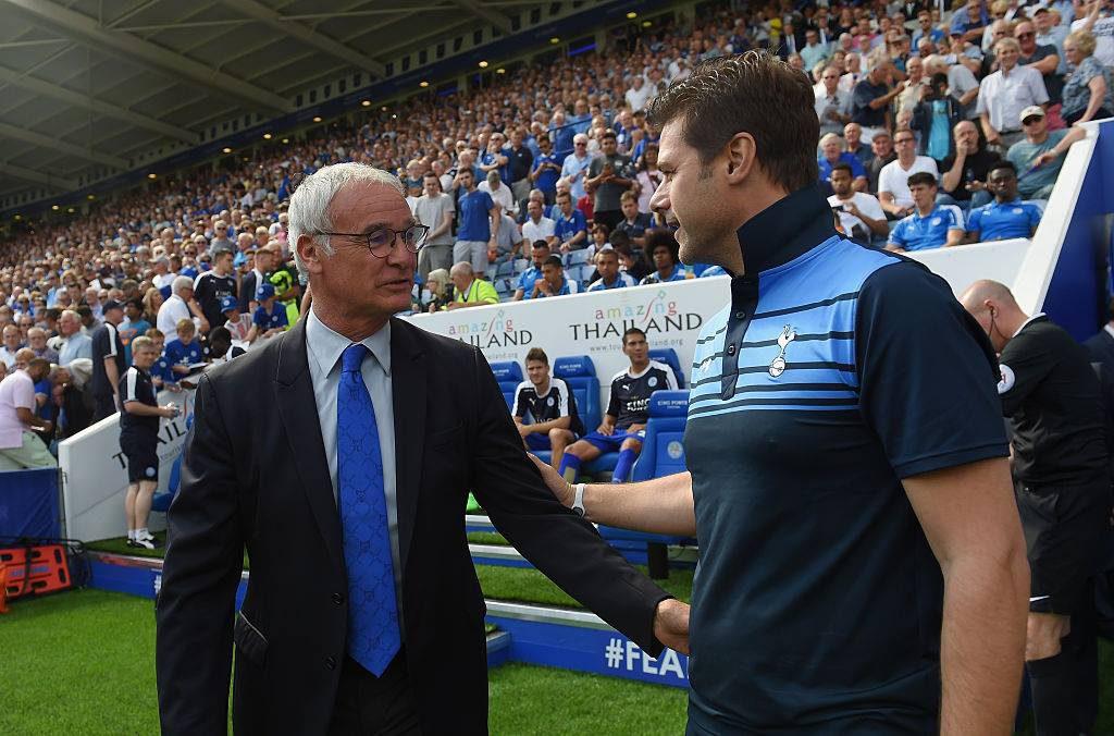 Claudio Ranieri, 64 anos, e Mauricio Pochettino, 44: gerações distintas brigaram pelo título inglês nesta temporada (Foto: Divulgação/Tottenham)