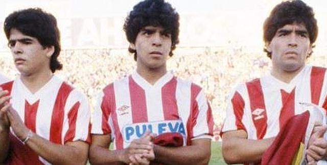 Os três irmãos Maradona vestem a camisa do Granada no amistoso
