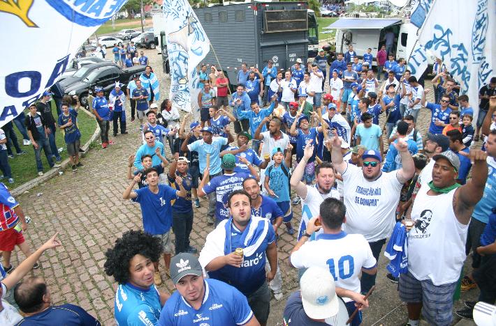 Torcida celebra acesso do São Bento à Série C do Brasileiro (Foto: Jesus Vicente)