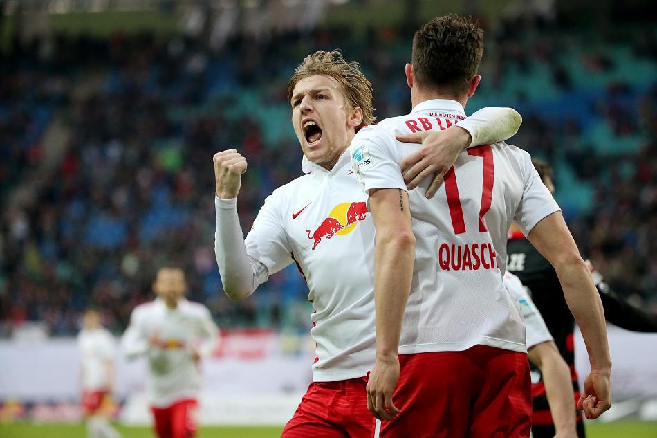 Forsberg é uma das estrelas do RB Leipzig em busca do título (Foto: Divulgação)