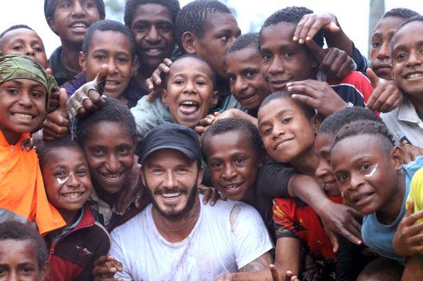 Beckham em uma das paradas de sua jornada de 10 dias (Foto: Divulgação)