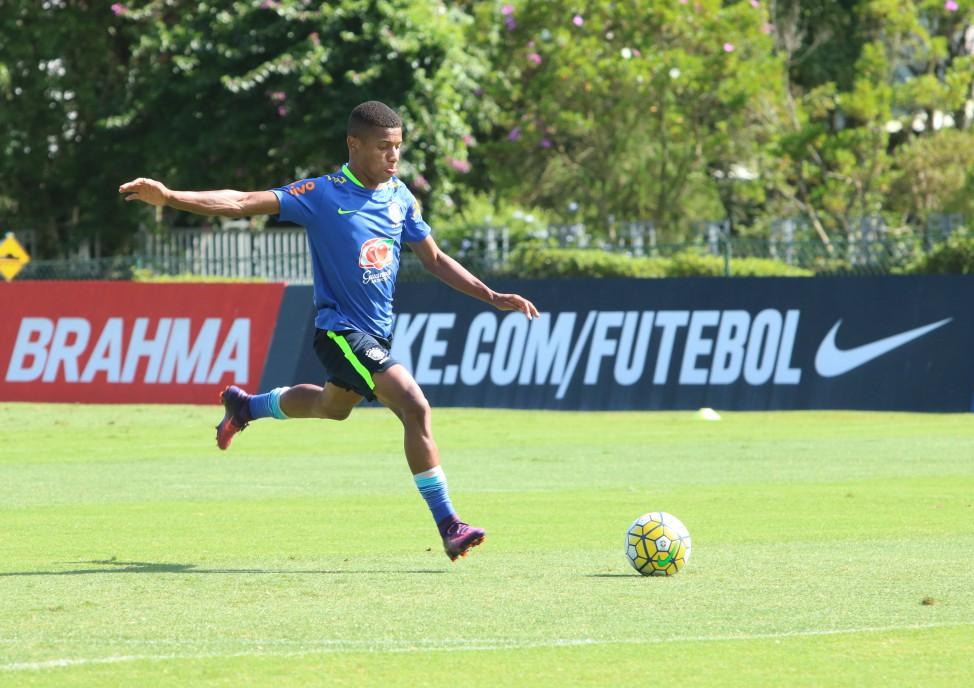David Neres, do São Paulo, é uma das estrelas do time (Foto: Kin Saito/Divulgação/CBF)