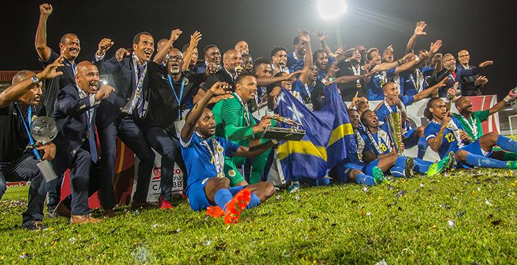 Jogadores comemoram o título de Curaçao