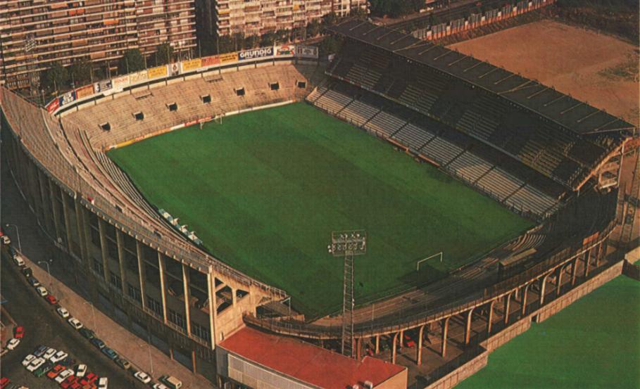 O antigo estádio, que acabou dando lugar a um parque (Foto: Reprodução)