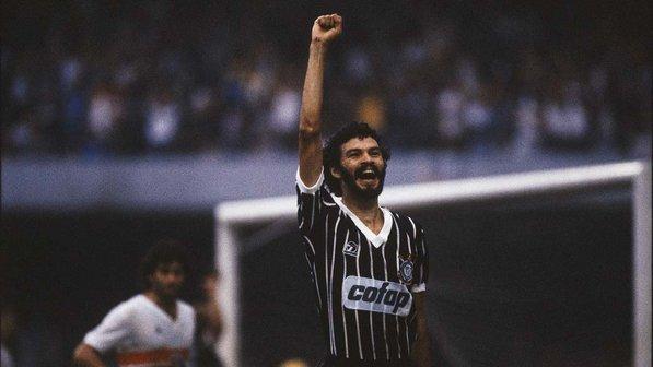 Líder da Democracia Corintiana, Sócrates marcou a década de 80 (Foto:Divulgação/Corinthians)