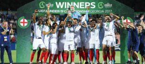 A Inglaterra foi a campeã europeia Sub-19 de 2017 (Foto: Reprodução/thefa.com)