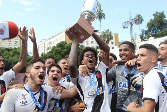 O time durante a conquista da Taça Guanabara Sub-20 (Foto: Divulgação/Vasco da Gama)