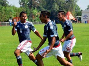 Baez comemora mais um gol pelo Paraguai (Foto: Reprodução)