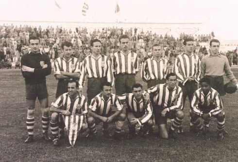 Elenco que disputou a primeira divisão em 1951 (Foto: Reprodução)