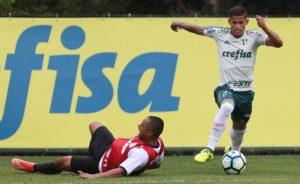Maílton, do Palmeiras, controla a bola (Foto: Cesar Greco/Ag. Palmeiras/Divulgação)