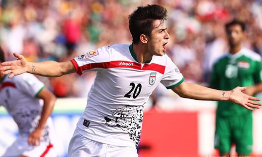 Alto e extremamente técnico, Azmoun é a estrela do Irã na Copa (Foto: Reprodução)