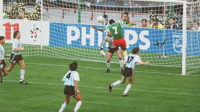 Argentina começou a Copa de 1990 com zebra, mas se recuperou e chegou na final (Foto: Reprodução)