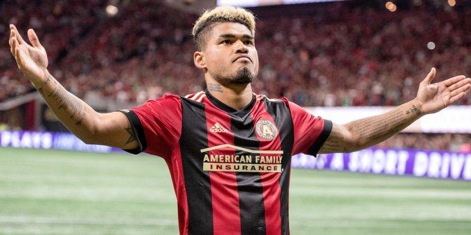 Martinez comemora mais um gol pelo Atlanta (Foto: Reprodução)