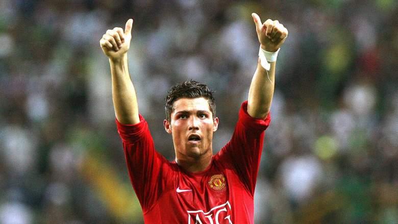 Ronaldo durante os tempos de Manchester (Foto: Reprodução)