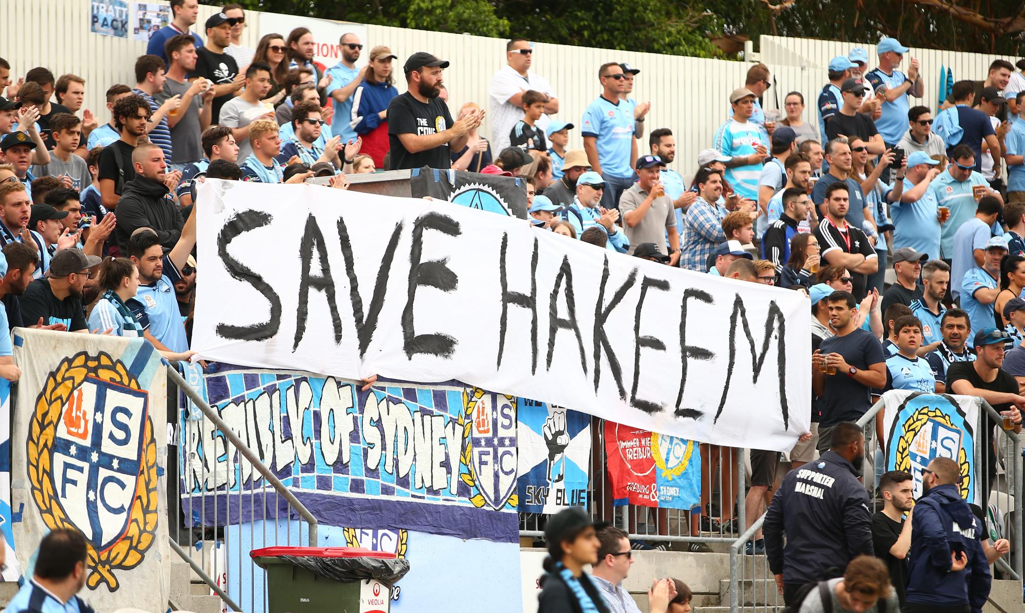 Torcida do Pascoe Vale pede a liberação de Hakeem Al Araibi (Foto: Reprodução)